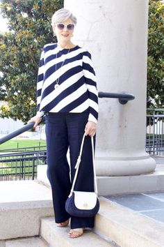 sail into summer in style with Ann Taylor. Older Women Fashion, Fashion For Women Over 40, 50 Fashion, Plus Size Fashion, Fashion Outfits, Winter Fashion, Fashion Styles, Fashion Boots, High Fashion