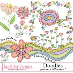 Doodles - Flowers Collection #1