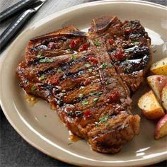 Chipotle-Honey Grilled T-Bones - jazz up your Creswick Farms T-Bone Steak with this recipe
