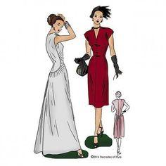 Schnittmuster: 4014 - 1940s Belle Curve Dress