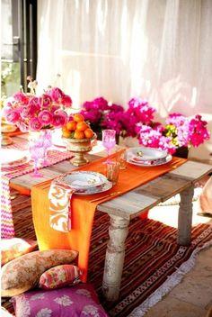 orange/ pink/ wood/ gold