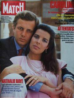 Princess Caroline of Monaco and Stefano Casiraghi-PARIS MATCH N°1939 (25-July-1986)