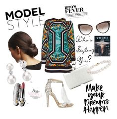 """""""Retro Fever"""" by fashiontagboutique on Polyvore featuring Jimmy Choo, Elie Saab, Tom Ford, Dita, Guerlain, Blue Nile, women's clothing, women's fashion, women and female"""
