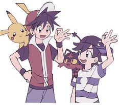 pokespe:Red,Pika,Sun and Litten Mew Pokemon Card, Pokemon W, Pokemon Manga, Pokemon Eeveelutions, Pokemon People, Pokemon Comics, Pokemon Fan Art, Pokemon Stuff, Pokemon Adventures Manga