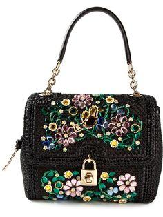 Dolce and Gabbana Medium 'Dolce' Embellished Shoulder Bag