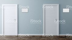 The Corridor in office building. 3D rendering royalty-free stock photo