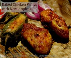 Chicken wings baked with Kerala masala / Indian spice flavored chicken wings