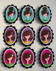 Cameos for cupcakes or cookies. How Cute!