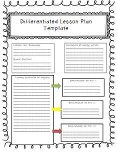 Common Core Lesson Plan Template | Common Core Math | Pinterest ...