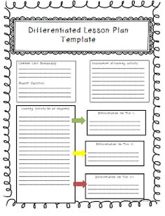 lesson plan template for differentiated instruction - 1000 images about differentiated kindergarten on
