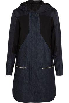Tim Coppens   Denim, cotton and silk-blend and stretch-wool parka   NET-A-PORTER.COM