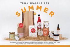 Trill Seasons Summer Box. The majority of Trill Seasons products are unique to the box, and not available to purchase through our website http://www.organicholidays.co.uk/at/2808.htm