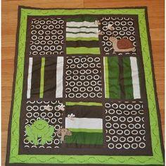 10pc Frog Nursery Crib Bedding Set Brown & Green - Pollywog Pond