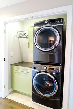 Stacked Washer and Dryer For More Room