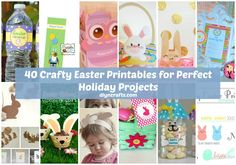 40 Crafty Easter Printables for Perfect Holiday Projects-We have collected 40 of the best Easter printables to get you started on those Easter themed crafts. The printables are all completely free so you can just print them off and then make your craft. There is everything here from Easter cards to decorations and even a few treat bags that are great for those Easter parties. There are even printables for puppets that the kids will love. If you are planning to create your own Easter crafts…