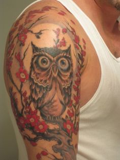 69d23734c6a39 Colorful Owl Tattoos Pinned by www.myowlbarn.com Colorful Owl Tattoo,  Picture Tattoos
