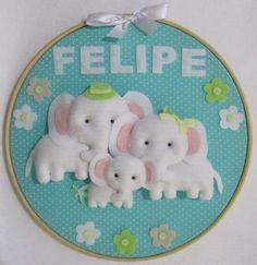 porta-maternidade-familia-elefantinhos-quadro-maternidade