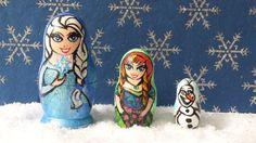 Custom FROZEN Nesting Doll set  Must See by Wendypony on Etsy