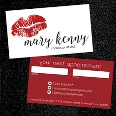 Glam Custom Make-up Artist Business Cards - PROFESSIONALLY printed! Cosmetologist Business Cards @verymaryk ... Surprisingly affordable!