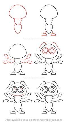 Comment dessiner une fourmi