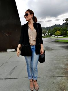 tupersonalshopper Outfit  urbano chic camisa zara jeans zara Bolso ZARA abrigo Zara tacones Zara  Otoño 2012. Cómo vestirse y combinar según tupersonalshopper el 11-10-2012