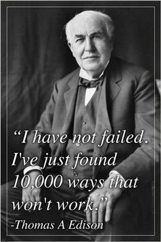 THOMAS EDISON, INVENTOR inspiring QUOTE POSTER ironic historic 24X36 RARE Brand New. 24x36 inches. Will ship in a tube. - Multiple item purchases are combined the next day and get a discount for domes