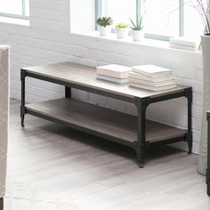 Belham Living Trenton Indoor Bench with Storage Shelf - Indoor Benches at Hayneedle