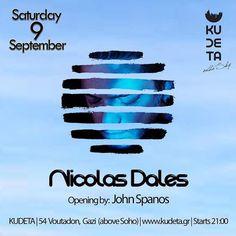 Nicolas Dales at Kudeta on the sky (Gazi) Sat. 9 Sept. at 21:00  I LOVE ATHENS ROOFTOP BARS!!! Αυτό είναι το πρώτο μου event στην Αθήνα μετά από την καλοκαιρινή επιστροφή μου... Coool!  Μιας και σιγά σιγά μπαίνουμε στην αλλαγή του χάρτη του clubbing είμαι ιδιαίτερα χαρούμενος που μου δίνεται η δυνατότητα για μερικά ακομη Rooftop Parties!  Σάββατο βράδυ απο τις 24:00 θα βρεθώ στα dexx του Kudeta - on the sky ενός υπέροχου rooftop στο κέντρο της πλατείας στο Γκάζι ακριβώς πάνω από το Soho Bar…
