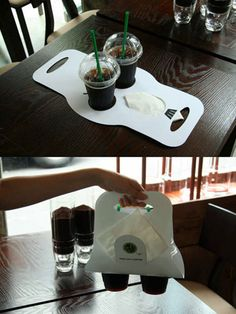 coffee carry bag - I'm sure I can figure out a way to make this!
