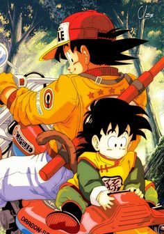 Goku and Gohan - Dragon Ball Z ♥ Also see #fantasy pics www.freecomputerdesktopwallpaper.com/wfantasy.shtml
