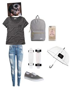 """Untitled #125"" by crazyperson456 ❤ liked on Polyvore featuring Abercrombie & Fitch, H&M, Vans, Kate Spade and Herschel Supply Co."