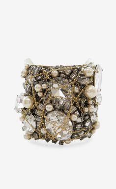 Erickson Beamon Silver, Crystal And Multicolor Bracelet
