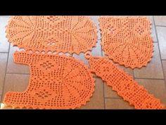 Crochet Table Mat, Crochet Videos, Home Decor Bedroom, Crochet Earrings, Rugs, Youtube, Bathroom Purple, Crochet Rug Patterns, Seat Covers