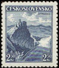 Sello: Strečno (Checoslovaquia) (Castles, landscapes and cities) Mi:CS 354,Sn:CS 221,Yt:CS 314,AFA:CS 218,POF:CS 308