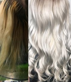 COLOR CORRECTION: Damaged To Icy - And Healthy - Platinum - Hair Color - Modern Salon