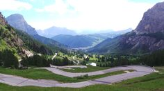 Gardena (from Corvara) - almost the exact same spot from where I shot a picture during the Sella Ronda 2011.