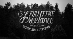 Beautiful lettering & photography by Nicolas Fredrickson