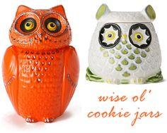 OWL COOKIE JARS. I NEED.