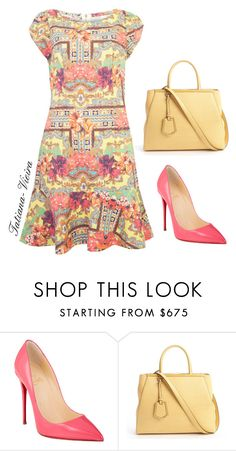 002 by tatiana-vieira on Polyvore featuring Christian Louboutin and Fendi