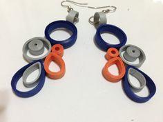 quilling earrings colorful hoops