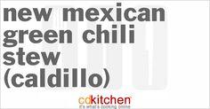Made with beef round or pork, oil, potatoes, onion, garlic, salt, green chiles | CDKitchen.com