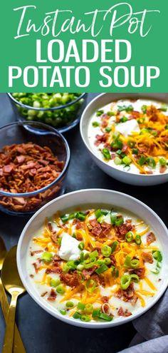 Healthy Potato Soup, Loaded Baked Potato Soup, Potatoe Soup Recipe Easy, Panera Baked Potato Soup, Crock Pot Potato Soup, Potato Soup Recipes, Crock Pot Soup Recipes, Instant Pot Potato Soup Recipe, Recipes