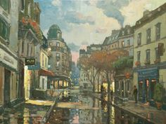 """""""Early Morning Reverie, Paris,"""" John C. Traynor, Oil on linen, 30 x 40"""", Collection of the artist."""