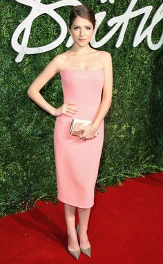 Anna Kendrick is peach-perfect at the British Fashion Awards 2014