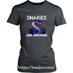 Snakes T-shirt - Snakes are awesome https://teedino.com/ Shop NOW!  #snake #shirt