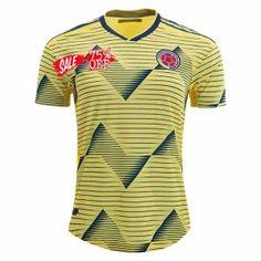 526a13ec9 2019 Cheap Copa America Jersey Colombia Home Player Version Soccer Shirt  2019 Cheap Copa America Jersey