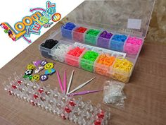 Large Box Colourful 2400 Loom Bands Bracelet Making Kit Set w/ 100 S-Clips - 1 Loom Board - 10 Loom Charms & 5 Hooks Best on Amazon funkybuys® http://www.amazon.co.uk/dp/B00KYRNA4M/ref=cm_sw_r_pi_dp_YfVMtb1QMHFQEEF7