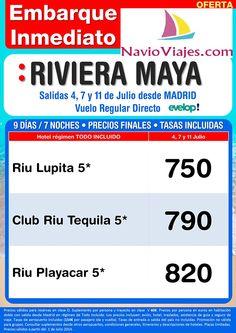 #RivieraMaya #oferta #julio