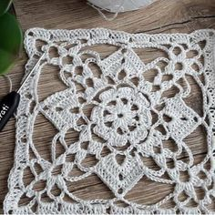 This Pin was discovered by Müj Crochet Squares, Crochet Granny, Crochet Motif, Knit Crochet, Crochet Patterns, Crochet Geek, Crochet Home, Thread Crochet, Crochet Symbols