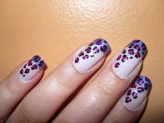 Purple and pink leopard print